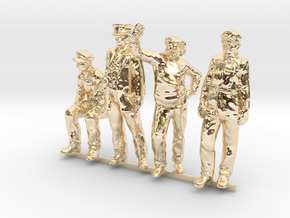 HO Pack of 4 figures in 14K Yellow Gold