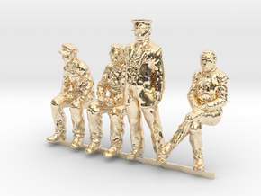 HO scale Figures 4 pack in 14K Yellow Gold