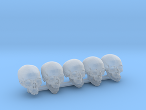 Undead, 5x Skull Conversion Kit (28mm Figures) 2 in Smooth Fine Detail Plastic