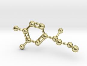 Adrenalin Molecule Pendant BIG in 18K Gold Plated