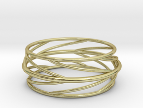 Swirl Bangle in 18k Gold Plated Brass: Small