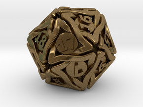 'Twined' Dice D20 MTG Spindown Life Counter Die 32 in Natural Bronze