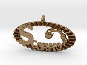 Scorpio Effect in Natural Brass