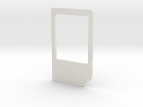 Micro Mini Sim Adapter in White Natural Versatile Plastic