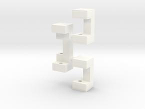 Railbox Mini Part 2 in White Processed Versatile Plastic