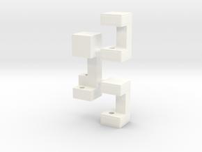 Railbox Mini Part 3 in White Processed Versatile Plastic