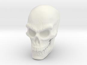 Pirate Skull in White Natural Versatile Plastic