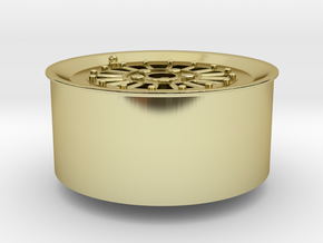 Car Rim for Model Scale 1/24 in 18K Gold Plated
