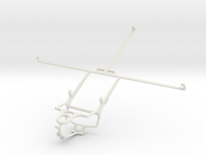 Controller mount for PS4 & Sony Xperia Tablet Z LT in White Natural Versatile Plastic