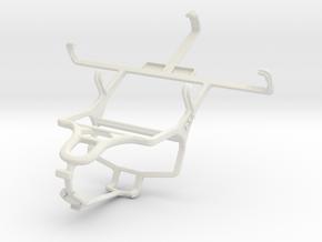 Controller mount for PS4 & Spice Mi-422 Smartflo P in White Natural Versatile Plastic