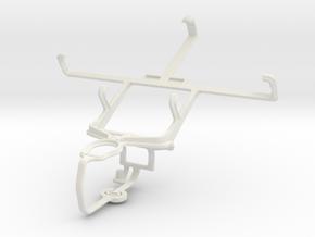 Controller mount for PS3 & Spice Mi-450 Smartflo I in White Natural Versatile Plastic