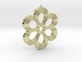 Flower Pendant 01 in 18K Gold Plated