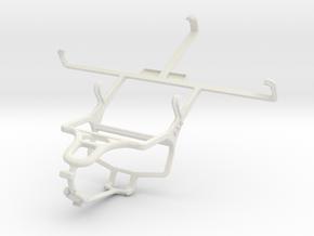 Controller mount for PS4 & Spice Mi-530 Stellar Pi in White Natural Versatile Plastic