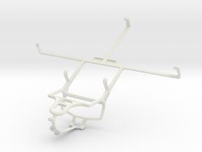 Controller mount for PS4 & Spice Mi-720 in White Natural Versatile Plastic