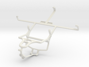 Controller mount for PS4 & Spice Mi-550 Pinnacle S in White Natural Versatile Plastic