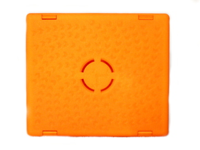 CarPC Deckel in Orange Processed Versatile Plastic
