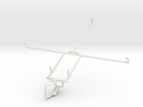 Controller mount for PS3 & Toshiba Excite Pro in White Natural Versatile Plastic