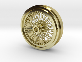 1/8 Wire Wheel Rear, with 72 spokes in 18K Gold Plated