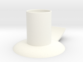 Candle holder with handle full version ø 21 mm in White Processed Versatile Plastic