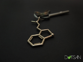 DMT Dimethyltryptamine Keychain in Stainless Steel