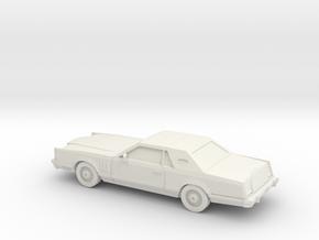1/87 1977-79 Lincoln Mark V  in White Natural Versatile Plastic