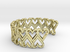 FLYHIGH: Open Heart Double Bracelet in 18K Gold Plated