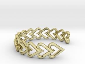 FLYHIGH: Open Heart Vertical Bracelet in 18K Gold Plated