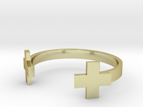 Double Plus Cuff in 18K Gold Plated