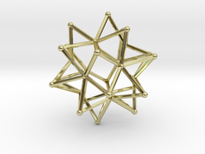 Stellated Icosohedron WireBalls - 3cm in 18K Gold Plated