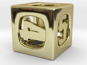 Thoroughly Modern d6 in 18K Gold Plated