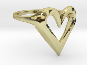 FLYHIGH: Skinny Heart Ring 15mm in 18K Gold Plated