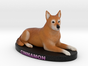 Custom Dog Figurine - Cinnamon in Full Color Sandstone
