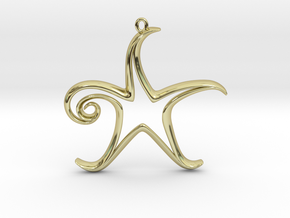 The Star Pendant in 18K Gold Plated
