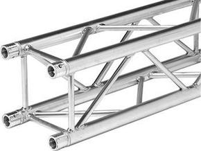 Square truss 1m (1:10 model)  in White Natural Versatile Plastic