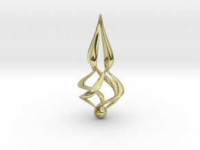 Twisted (Earring or Pendant) in 18K Gold Plated