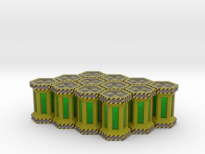 Game Piece, Power Grid, Uranium Canister Type1 x12 in Full Color Sandstone