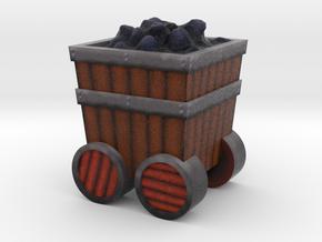 Game Piece, Power Grid, Coal Cart Token in Full Color Sandstone