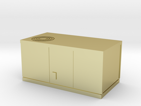 HO scale rooftop air conditioning unit in 18K Gold Plated