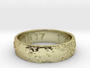 Moon Ring V3 RS11.5 Ring Size 11.5 in 18K Gold Plated
