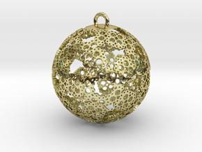 Ornament 30mm in White Natural Versatile Plastic