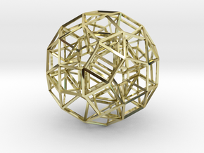Dodecahedron .06 5cm in 18K Gold Plated