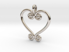 Swirling Love in Platinum