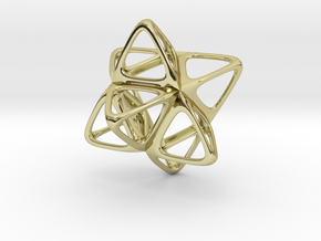 Merkaba Flatbase R2 - 4cm in 18K Gold Plated