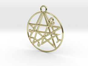 Cthulhu Sigil of the Gateway Pendant in 18K Gold Plated
