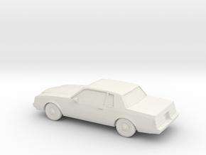 1/87 1985 Buick Regal in White Natural Versatile Plastic