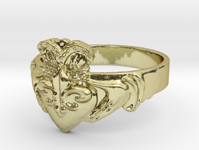 NOLA Claddagh, Ring Size 6.5 in 18K Gold Plated