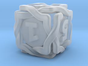 'Twined' Dice D6 Gaming Die in Smooth Fine Detail Plastic