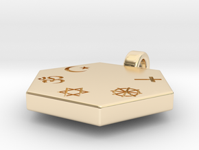 Statement for Peace: neutral pendant in 14K Yellow Gold