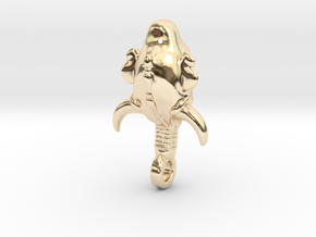 SUPERNATURAL Amulet 3.0cm in 14k Gold Plated Brass