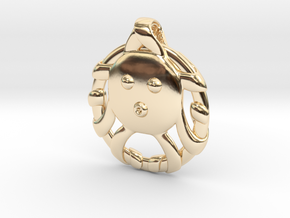 Cute Octopus Pendant in 14k Gold Plated Brass